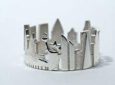 New York Cityscape - Skyline Ring 3d printed