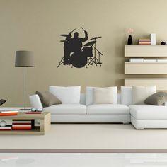 Adesivo Decorativo de Parede Baterista, é um adesivo decorativo de parede Adesivo decorativo para você ter em uma parede, pode ser ela do quarto, da sala...