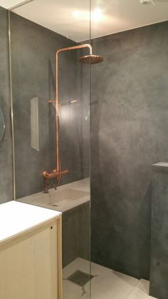 Microsement Oslo Toyen Medium Nero Pallido Concrete Design, Oslo, Bathroom Inspiration, Bathtub, Medium, Standing Bath, Bathtubs, Bath Tube, Bath Tub
