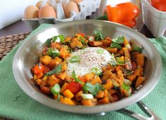 This is a quick Mexican inspired sweet potato hash for one topped with an egg. Breakfast, lunch or dinner appropriate and super simple to make.