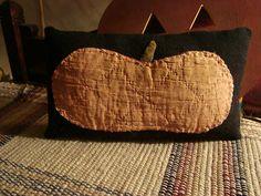 Old Quilt Pumpkin Pillow