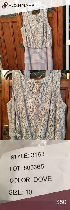 Mother of the Bride Beautiful, Dove silver, Mother of the Bride dress! Worn once, amazing conduction! Comes with a matching shawl. Dresses