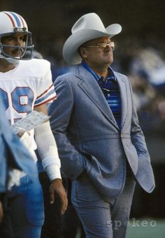 Bum Phillips and his trademark Stetson hat.