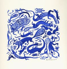 http://www.etsy.com/listing/71180969/blue-animals-sheep-lizard-crocodile