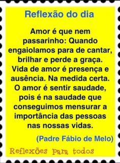 AMOR É SENTIR SAUDADE...