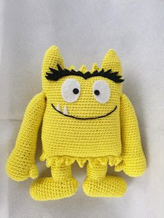 Troetels en zo: Patroon kleurenmonsters haken Crochet For Kids, Crochet Toys, Crochet Baby, Crochet Monsters, Chrochet, Cute Pattern, Baby Patterns, Hand Warmers, Little Ones