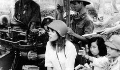 In she visited Hanoi, Vietnam, where she spoke out against the U. She famously shocked the American public by straddling a Viet Cong anti-aircraft gun during the Vietnam War in protest against the conflict North Vietnam, Vietnam War, Vietnam Protests, Vietnam Veterans, Jane Fonda, Linda Evans, Lee Majors, Tv Westerns, Barbara Stanwyck