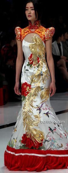 China Fashion Week - Zhang Zhifen - NE Tiger Chinese inspired fashion