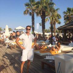 Our CEO Christian Jagodsinski, conducting business at the ever-chic Nikki Beach Saint-Tropez.