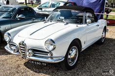 #Alfa_Romeo #Giulietta #Spider à la Bourse de Mantes. Reportage complet : http://newsdanciennes.com/2016/04/18/belles-autos-peu-nombreuses-bourse-de-mantes/ #Voitures #Anciennes #ClassicCar