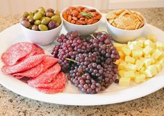 platter for wine and cheese party.