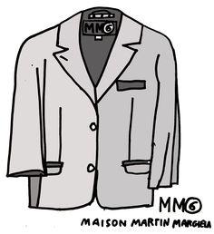 Robert Kuta Maison Martin Margiela illustraion 2014