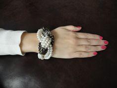 Braided beads bracelet