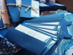 Blue wave custom invitations