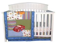Trend Lab Nascar 3-Pc Crib Set $109.09 from bedding.com  #nascar #cribset