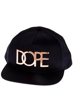 Rose Gold Metal Plate Snapback by DOPE b5798710991