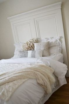 DIY Headboard plans - made with 2x4s, plywood and baseboard moulding!