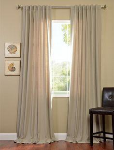 2-1 Cobblestone Cotenza Pole Pocket With Back-Tabs Curtain