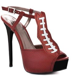 Would you wear these super cute football heels to a game?
