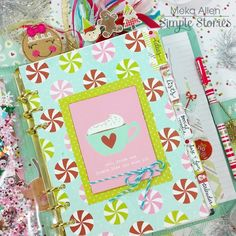 Robin's Egg Carpe Diem planner with our Mistletoe Kisses collection, decorated by creative team member Meka Allen