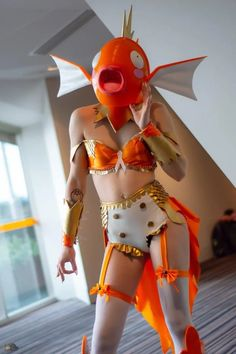 A magikarp-themed Sailor Moon outfit.I think. Easy Cosplay, Casual Cosplay, Cosplay Ideas, Simple Cosplay, Avatar Cosplay, Pokemon Cosplay, Anime Cosplay, Sailor Moon Outfit, Sailor Moon Cosplay