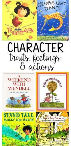 My favorite books for teaching character traits, actions, and feelings! Read the post for more lessons!