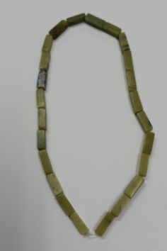 """Olive Jade Stone Bead - 16"""" Long Strand - Tube - 16x5mm - Free Shipping by GailsGiftHut on Etsy"""