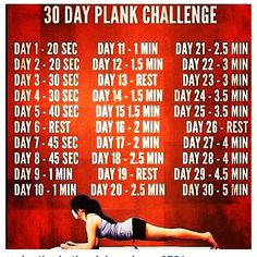 30 days plank challenge Started this today.  Lets see if I can do it.