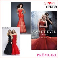 Sweet Evil Prom - Dresses inspired by YA Covers Want the top one.