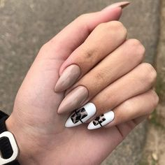 Leopard Nail Designs, Leopard Nails, Nude Nails, Pink Nails, Coffin Nails, Stylish Nails, Trendy Nails, French Nails Elegant, Square Nail Designs
