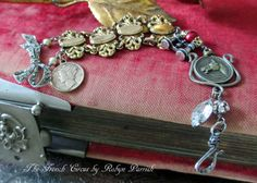WELL BRED vintage assemblage bracelet with by TheFrenchCircus