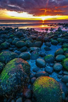 Landscape Photography Iceland:     One Icelandic sunset for you my friends on the colorful beach of Hvaleyri, near Hafnarfjörður