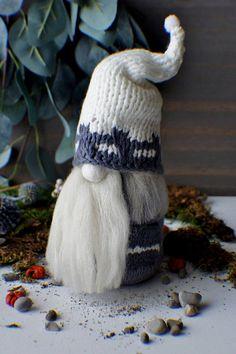 Interior Gnome, Scandinavian Gnome, Tomte, Nordic Gnome, Forest Gnome, Christmas Gnome, Elf Doll, Woodland Gnome Home decor, Christmas decor #ad