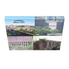 LOWELL MILL CITY COLLAGE WRAPPED CANVAS PRINT