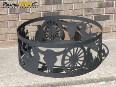 Western Design | Wagon Wheel | Cowboy | Metal Fire Ring design by a PlasmaCAM customer