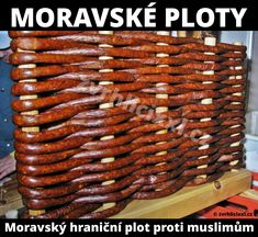 Plit z kovbasy (fence made of sausages), Ukraine, from Iryna with love Ukrainian Recipes, Hungarian Recipes, Ukrainian Food, Bear Diet, Hungarian Cuisine, Hungarian Food, Humor, Charcuterie, The Cure