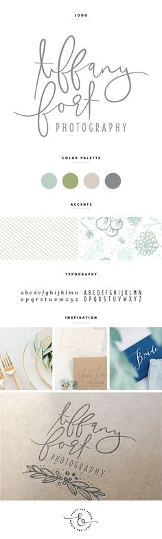 Tiffany Fort Photography Brand Board | Brand Board Inspiration