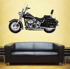 kcik60 Full Color Wall decal motorcycle racing speed strength bedroom living room for teens