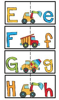 Preschool Printables: Alphabet cards matching upper and lower case letters