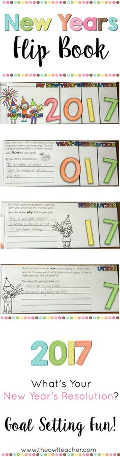 This engaging New Years Flipbook is a great way to reflect on last year's goals and set new ones for this New Year's Resolution!  Your students are sure to enjoy this goal setting activity and is perfect as a growth mindset activity!