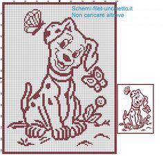 Copertina cane della carica dei 101 schema filet uncinetto.jpg (640×614)