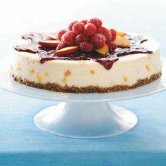 Peach Melba Cheesecake Recipe