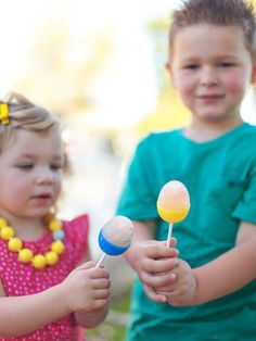 Fruity Egg Popsicles in Host a Kids' Easter Egg Decorating and Hunt Party from HGTV