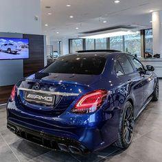 Mercedes AMG Blue night Color 💙😈 by Audi, Bmw, Porsche, Mercedes C63 Amg, New Mercedes, Amg C63, Auto Leasing, Benz Suv, C 63 Amg