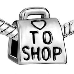 http://cheune.com/store Pugster Love To Shop Bag Handbag Heart Bead Charm Fit Pandora Charms Bracelet