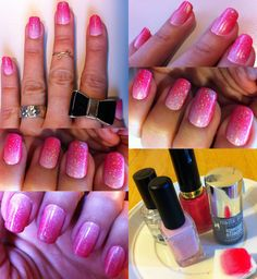 Nails of the week - pink gradient