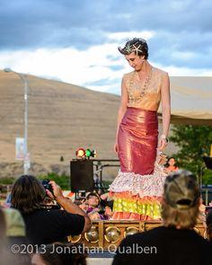 Mermaid Anya at The Hip Strip Block Party 2013!  Selvedge MADE.  Photo by Jonathan Qualben