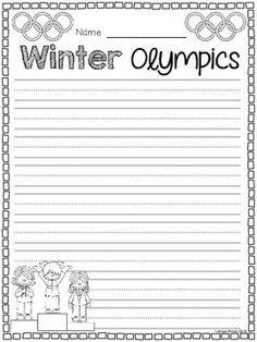 WINTER OLYMPIC AND WINTER SPORTS FREEBIES - TeachersPayTeachers.com