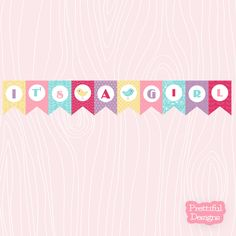 0fe8ebb67 Items similar to It s A Girl Banner Printable Sent Via Instant Download  Spring Cleaning on Etsy