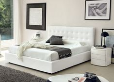 decorology: Luxury Bedroom Wish List Love the dark grey throw on an all white bed